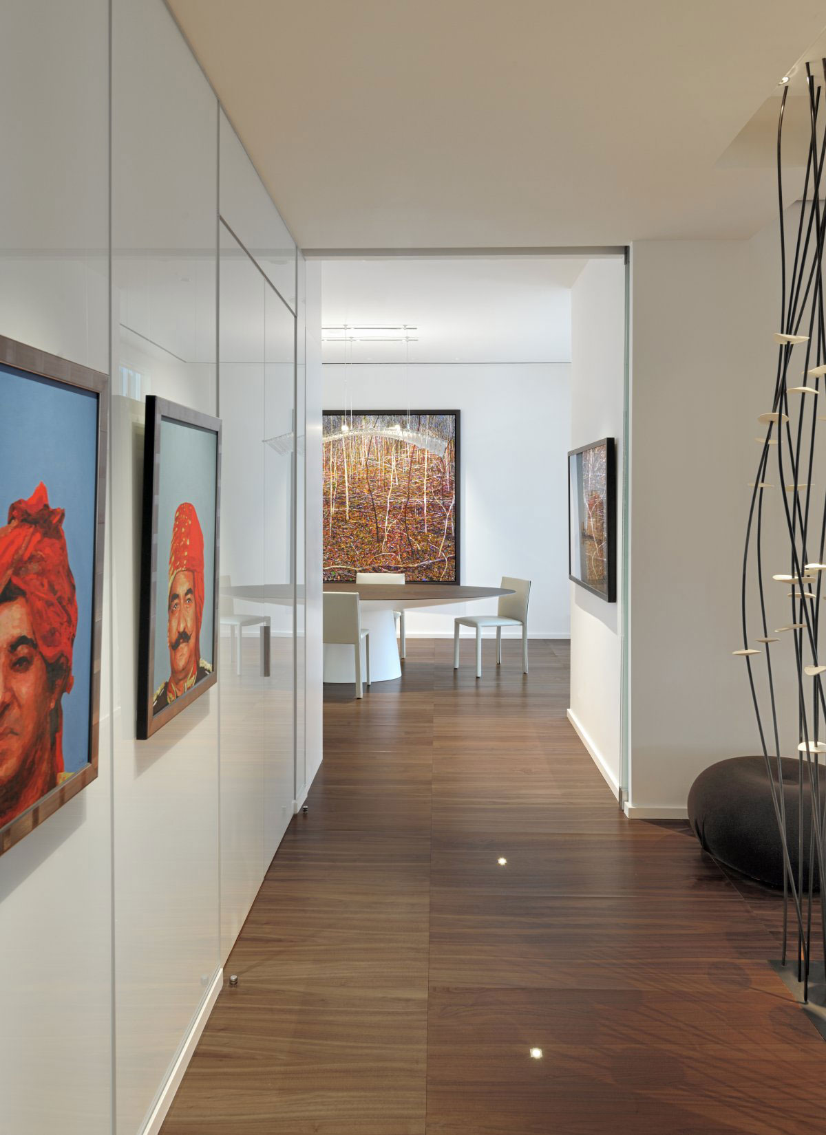 Art, Hallway, Yorkville Penthouse II in Toronto, Canada by Cecconi Simone