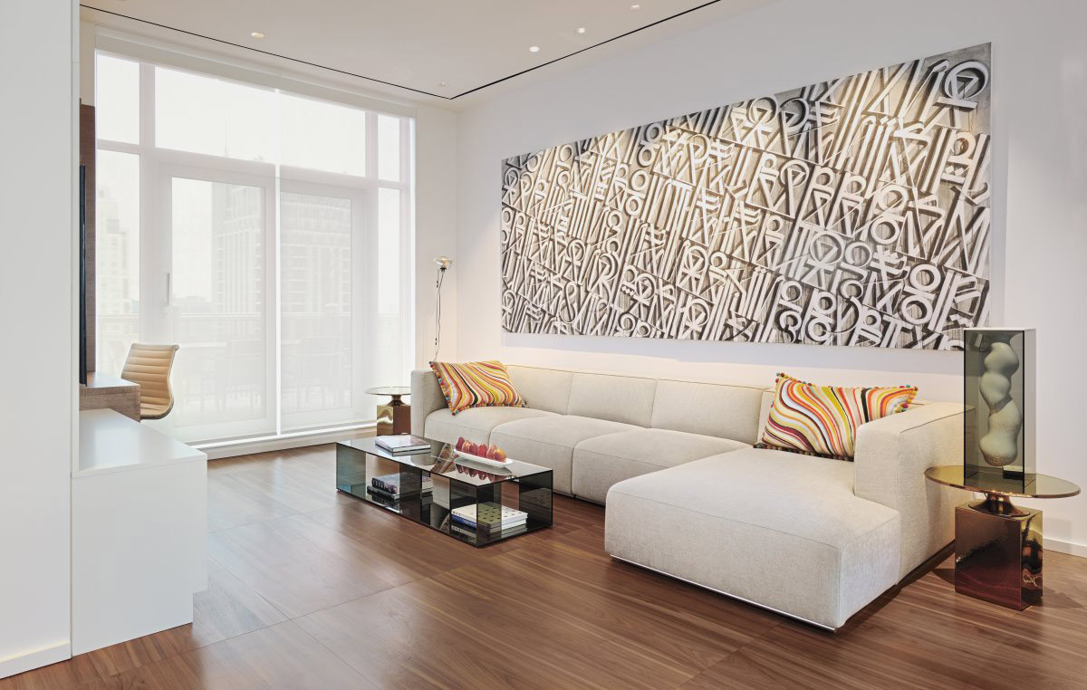 Living Space, Art, Sofa, Yorkville Penthouse II in Toronto, Canada by Cecconi Simone