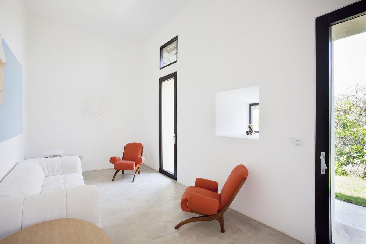 Living Space, Sofa, Farmhouse in Riomaggiore, Italy by A2BC Architects and SibillAssociati
