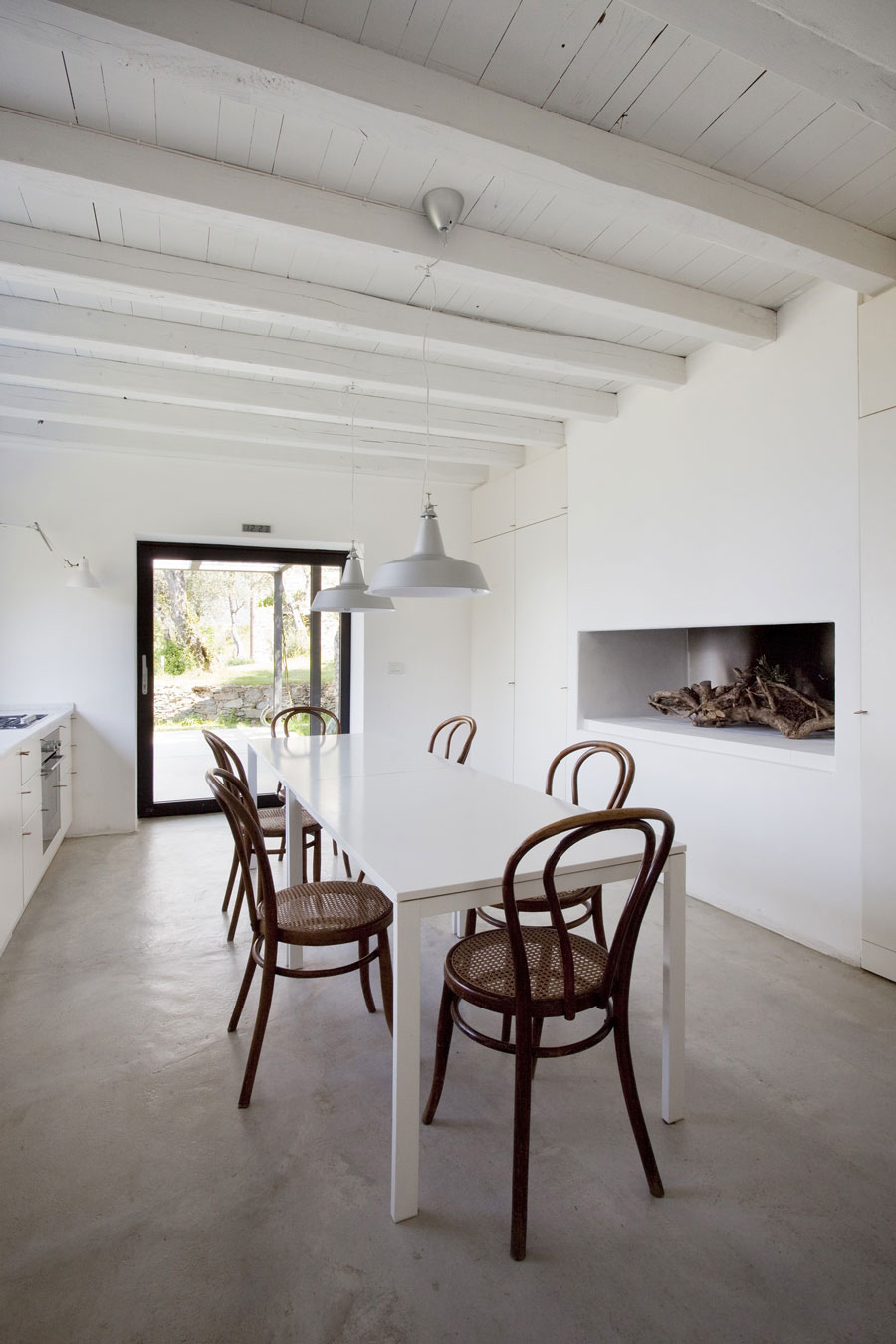White Dining Table, Farmhouse in Riomaggiore, Italy by A2BC Architects and SibillAssociati