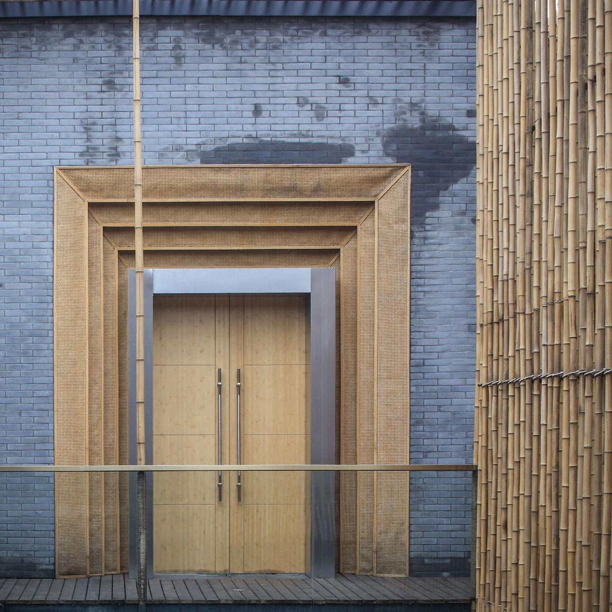 Entrance, Floating Bamboo Courtyard Teahouse in ShiQiao, China