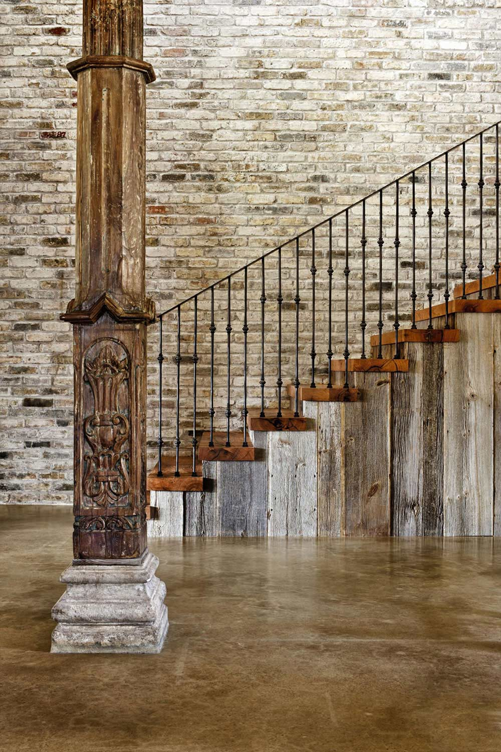 Rustic Staircase Hill Country Modern In Austin Texas