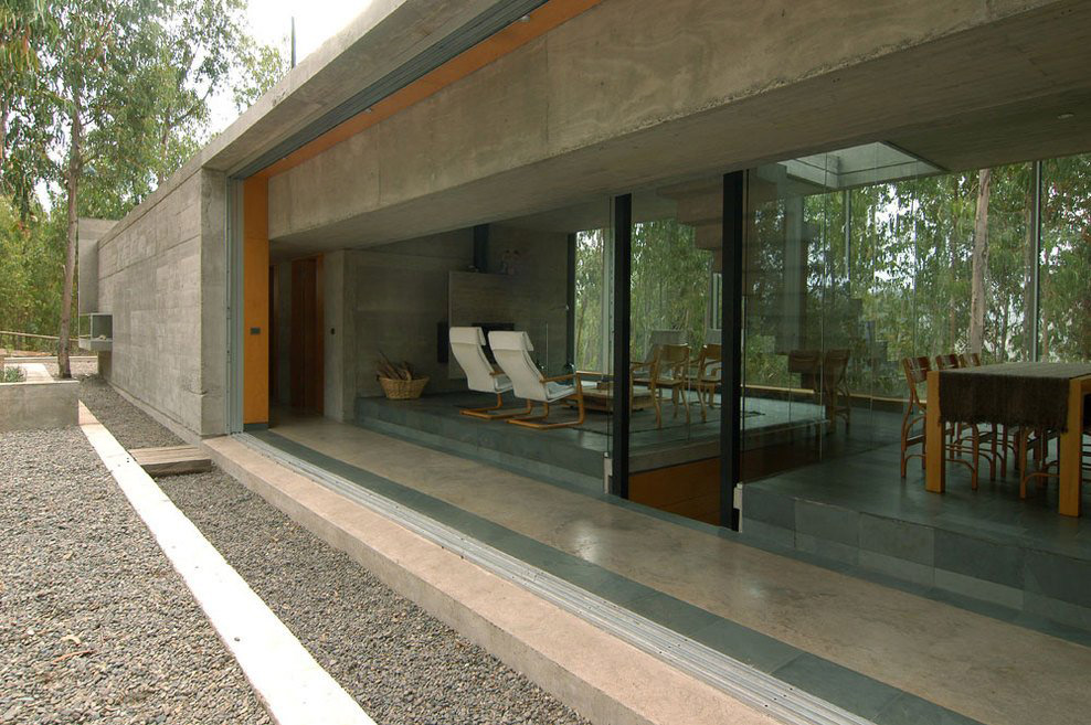 Patio Doors, Outdoor Living, Omnibus House in Cachagua, Chile by Gubbins Arquitectos