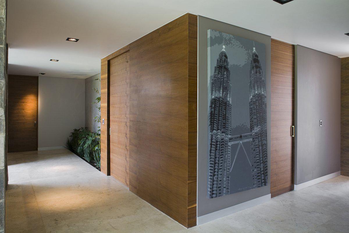 Art, Hallway, GP House in Hidalgo, Mexico by Bitar Arquitectos