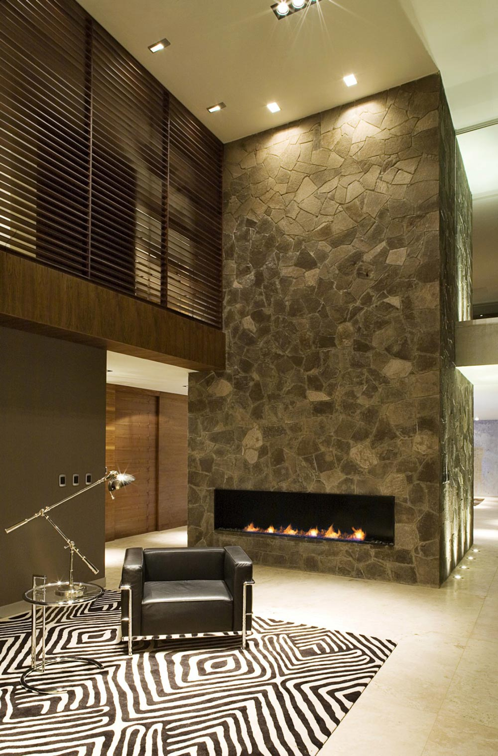 Contemporary Fireplace, Rug, GP House in Hidalgo, Mexico by Bitar Arquitectos
