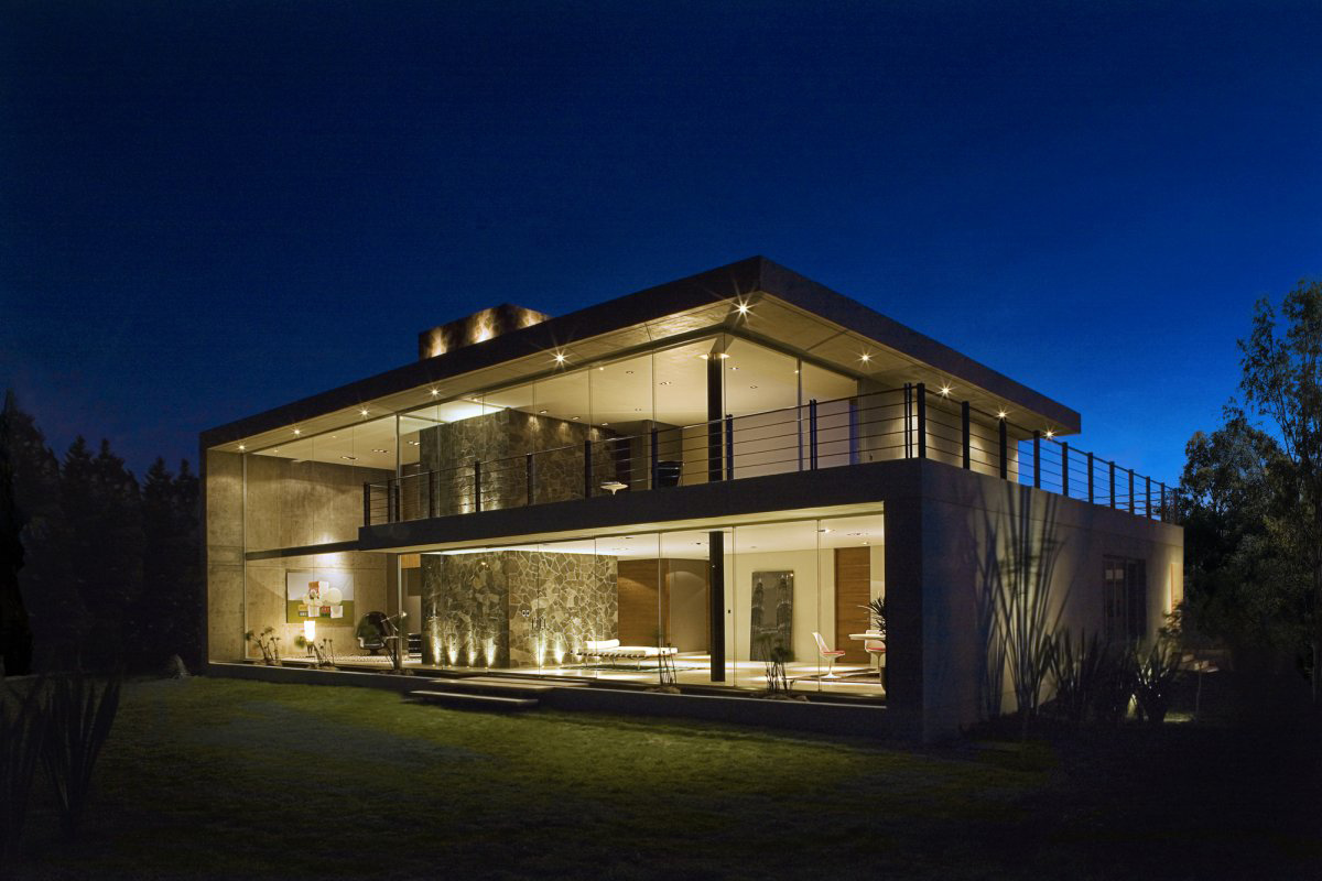 Dusk, Lighting, GP House in Hidalgo, Mexico by Bitar Arquitectos