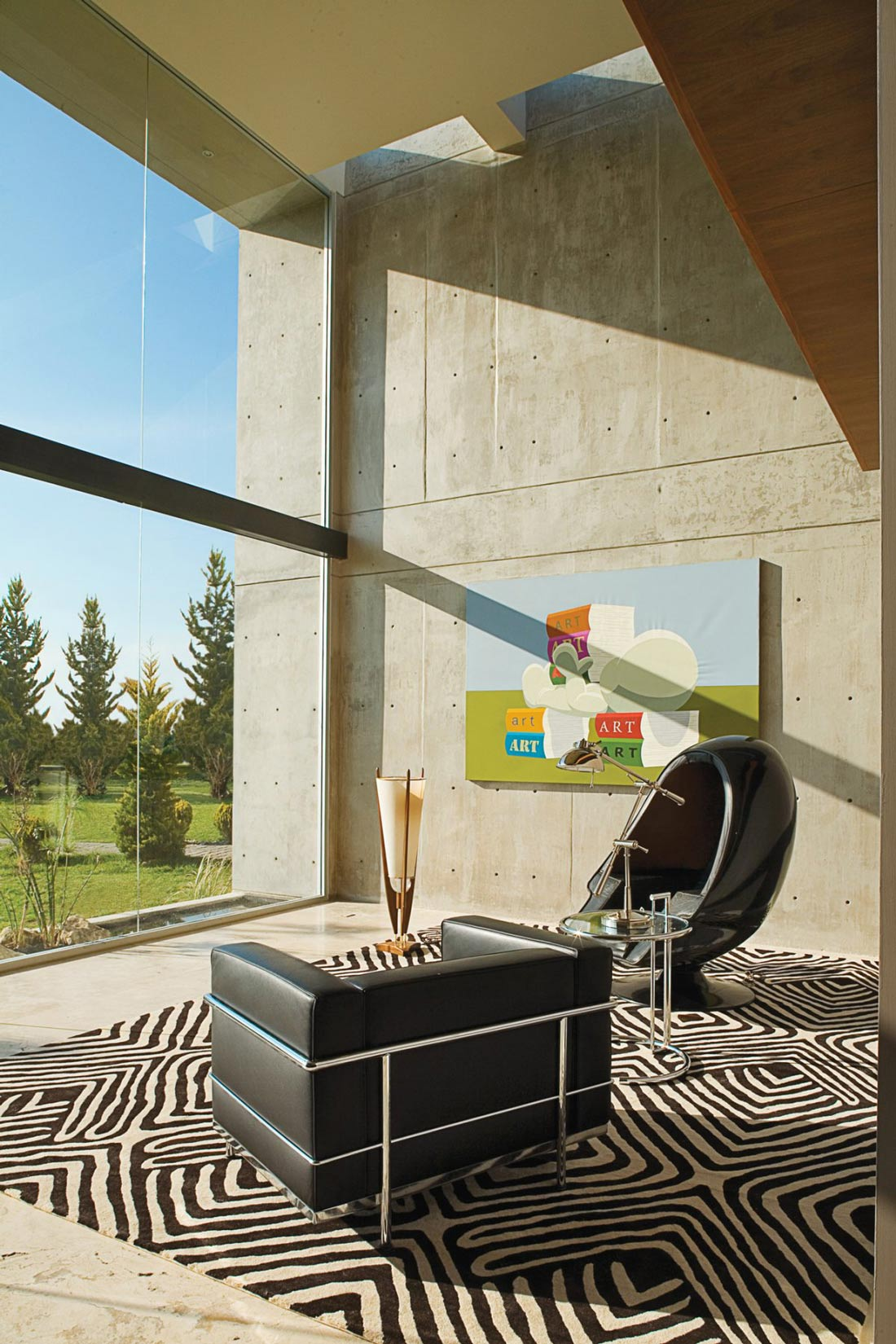Exposed Concrete, Glass Wall, GP House in Hidalgo, Mexico by Bitar Arquitectos