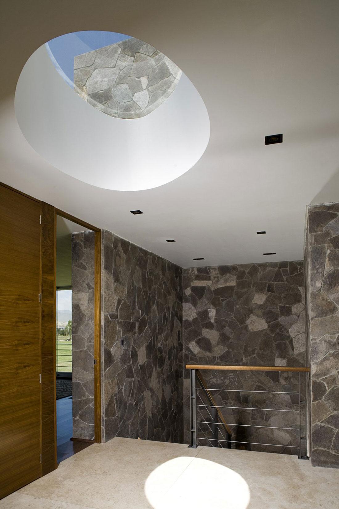 Stairs, Skylight, GP House in Hidalgo, Mexico by Bitar Arquitectos