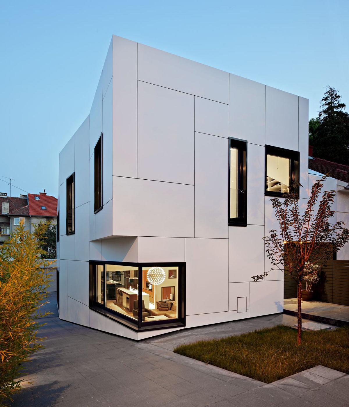 Driveway, A+A House in Zagreb, Croatia by DVA Arhitekta