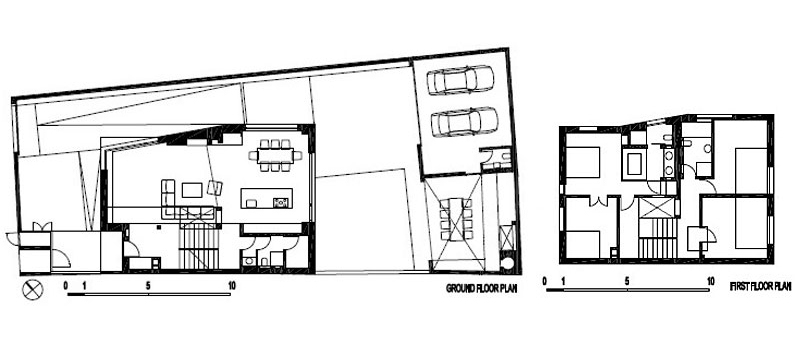 First Floor Plan, A+A House in Zagreb, Croatia by DVA Arhitekta