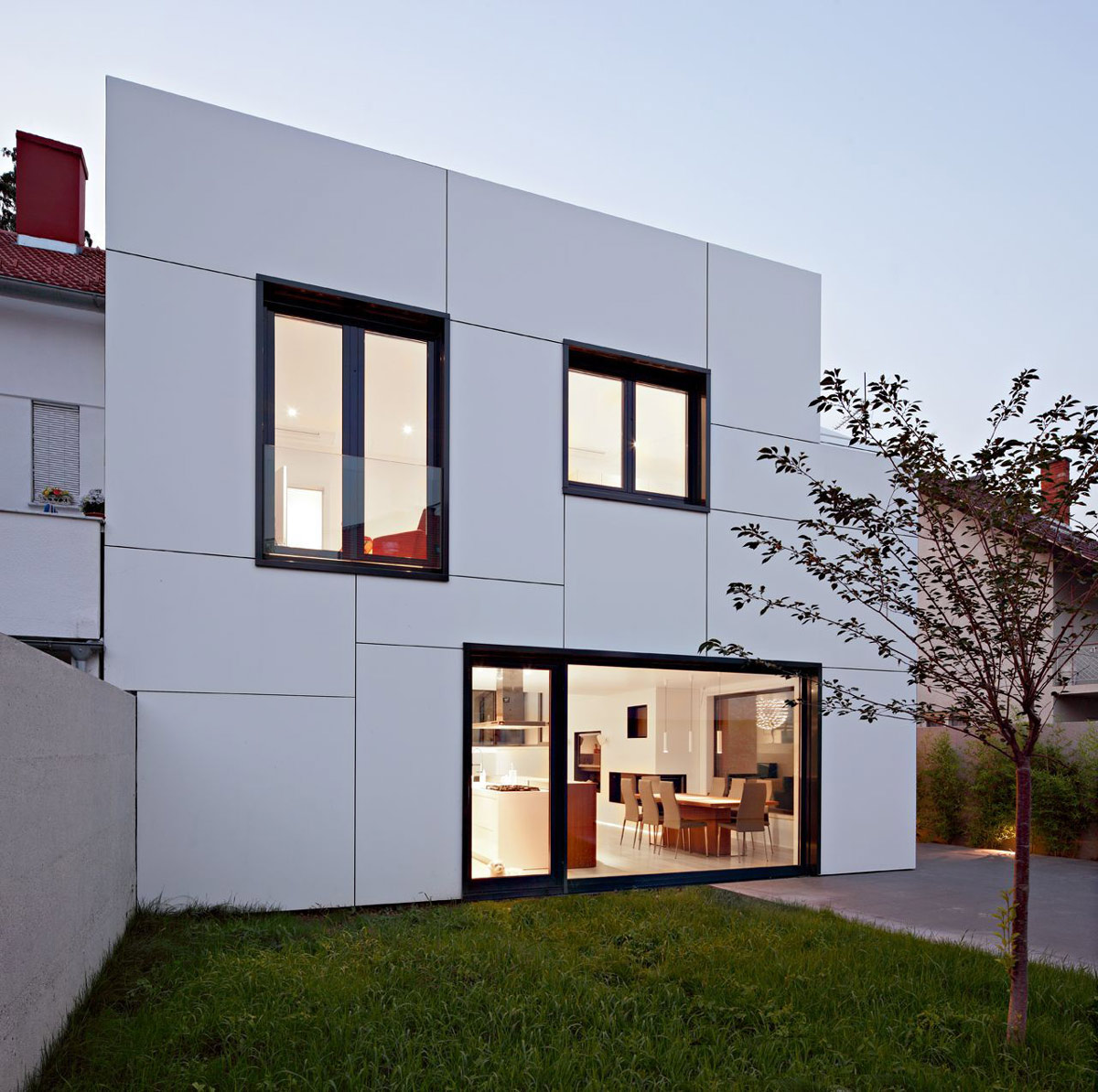 Garden, Patio Doors, A+A House in Zagreb, Croatia by DVA Arhitekta
