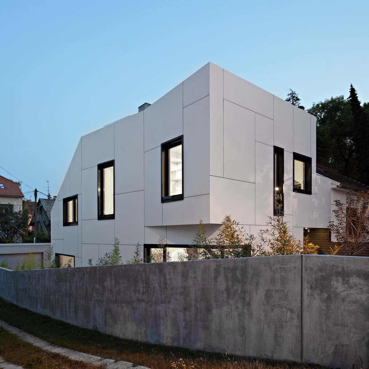 Garden Wall, A+A House in Zagreb, Croatia by DVA Arhitekta