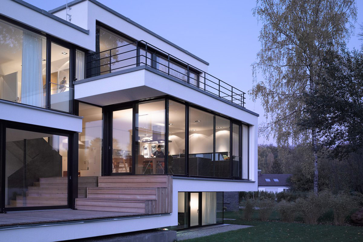 Glass Walls, Patio Doors, House Zochental in Aalen, Germany by ...