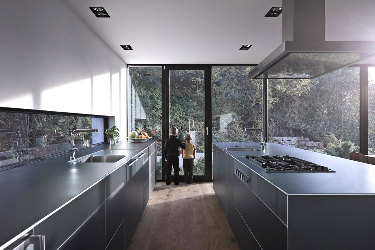 Kitchen Island, House Zochental in Aalen, Germany by Liebel Architekten BDA
