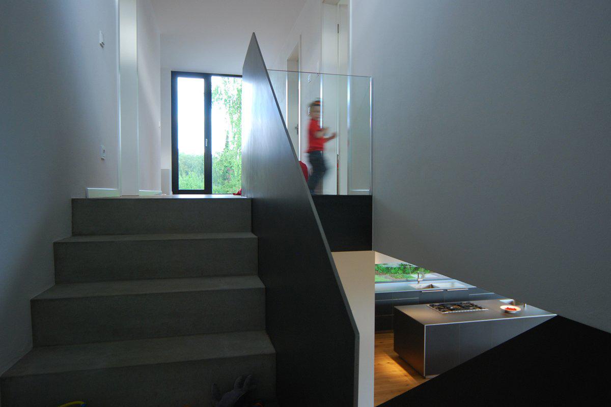 Stairs, House Zochental in Aalen, Germany by Liebel Architekten BDA