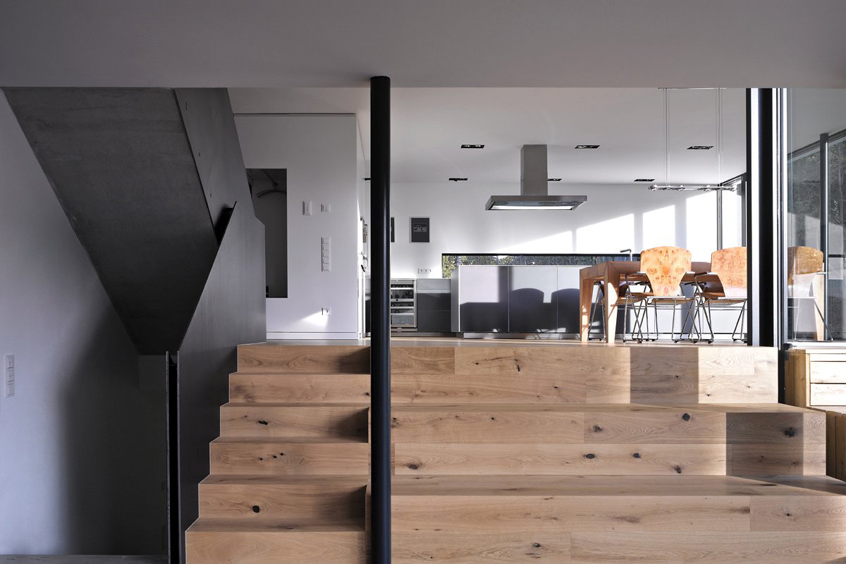 Steps, Kitchen, Dining, House Zochental in Aalen, Germany by Liebel Architekten BDA