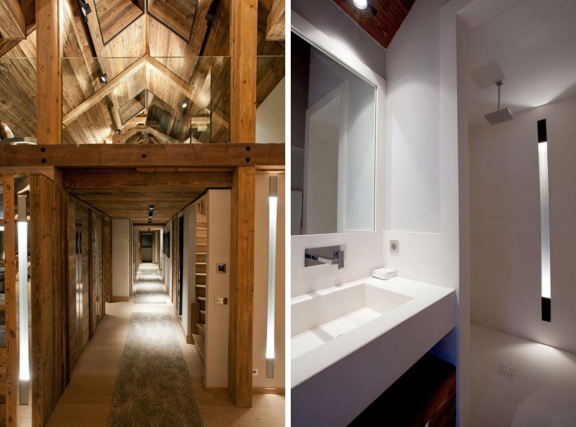 Bedroom, Hallway, Iced Winter Apartment by Bo Design