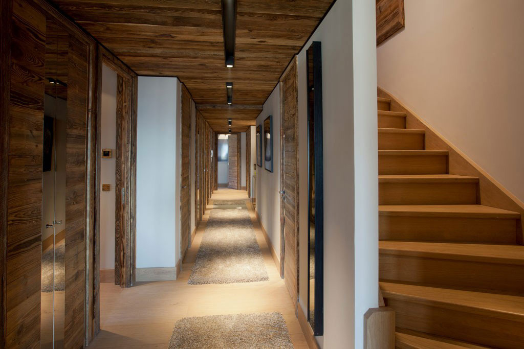 Hallway, Stairs, Iced Winter Apartment by Bo Design