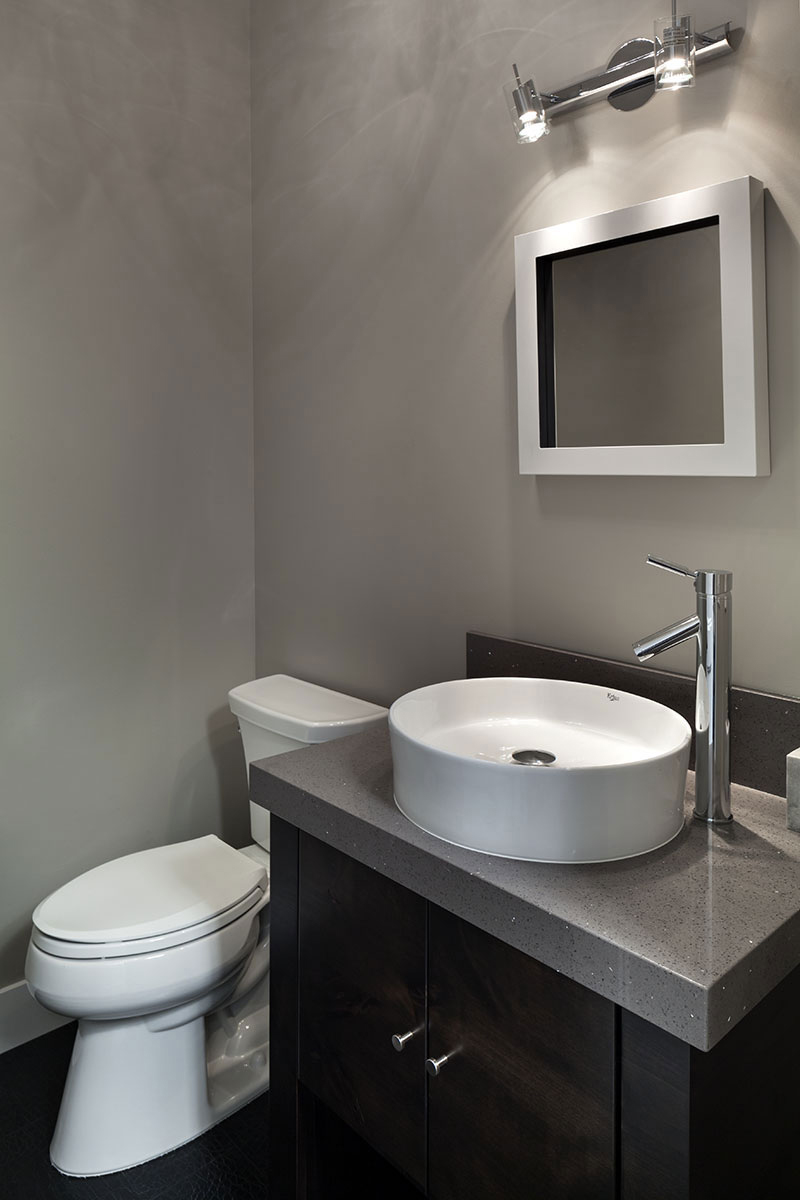 Bathroom, Sink, Modern Home in Eugene, Oregon by Jordan Iverson Signature Homes