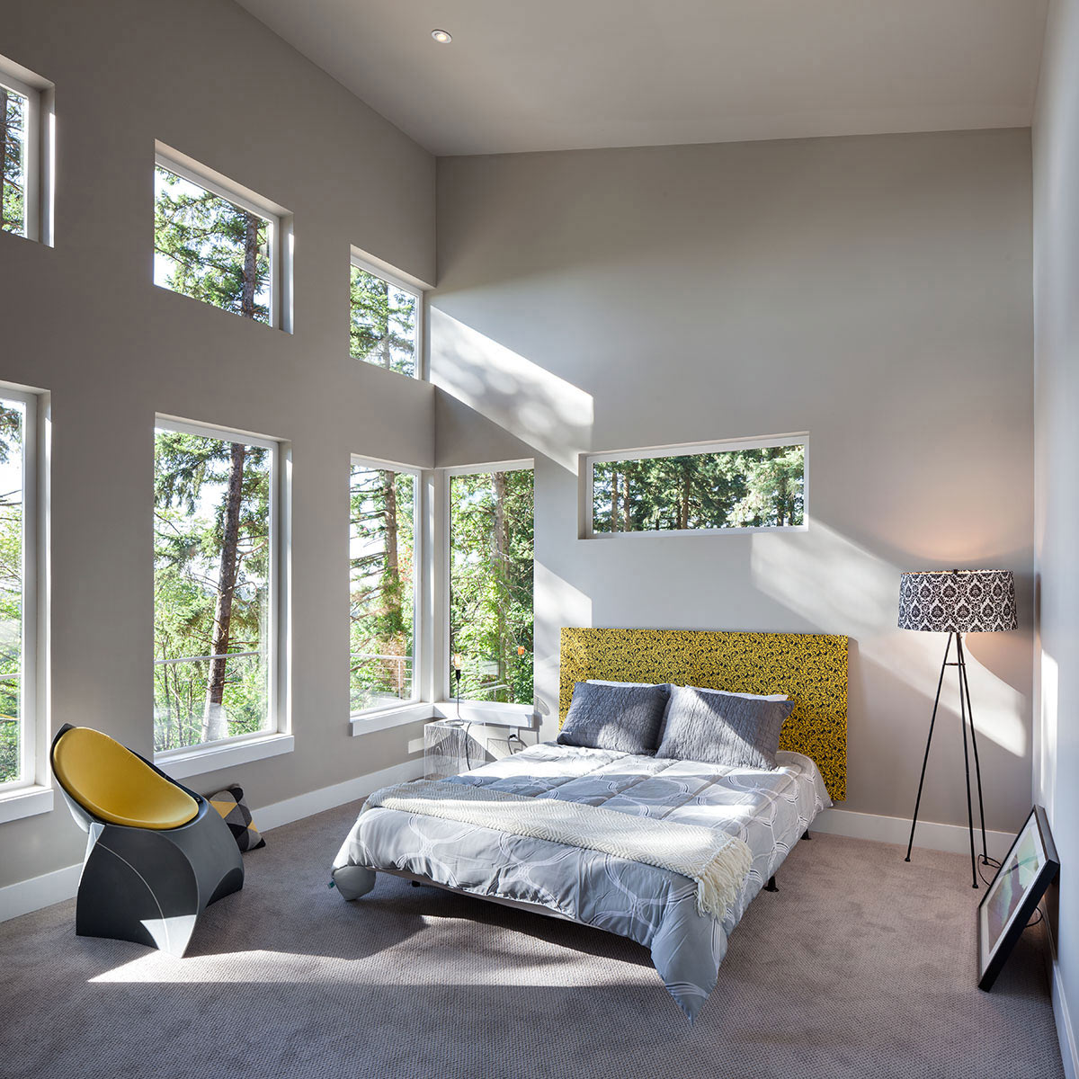 Bedroom, Modern Home in Eugene, Oregon by Jordan Iverson Signature Homes
