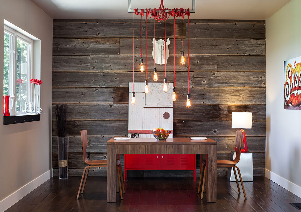 Dining Table, Lighting, Modern Home in Eugene, Oregon by Jordan Iverson Signature Homes