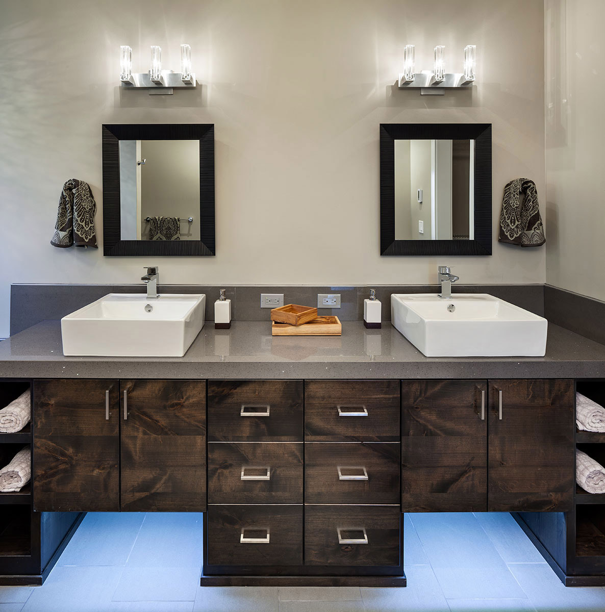 Double Sinks, Modern Home in Eugene, Oregon by Jordan Iverson Signature Homes