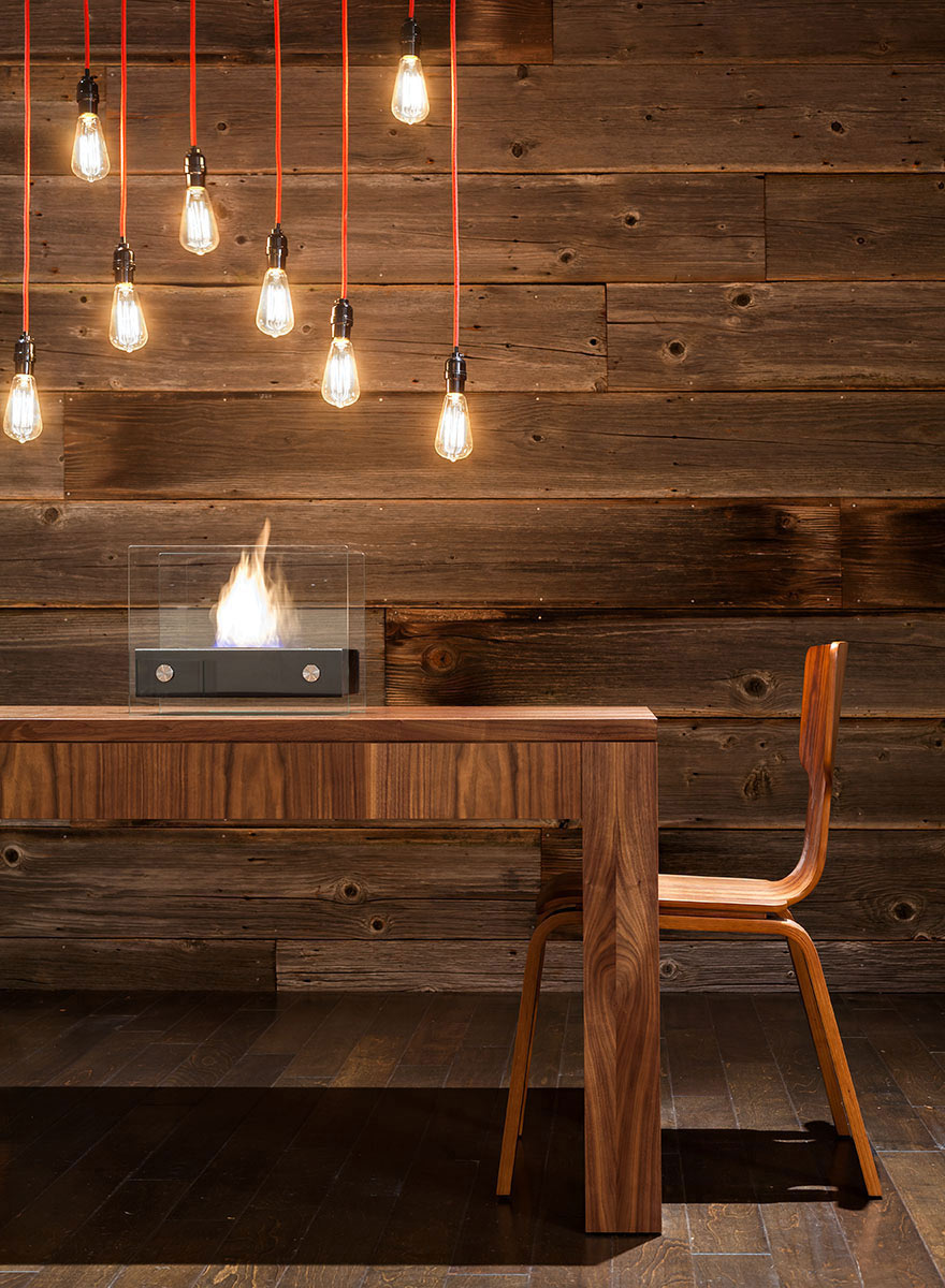Lighting, Fireplace, Dining Table, Modern Home in Eugene, Oregon by Jordan Iverson Signature Homes