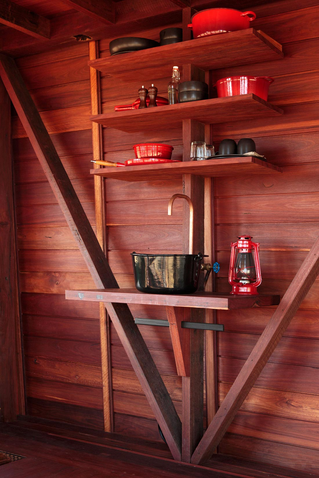 Compact Kitchen, Sink, Mudgee Tower, New South Wales, Australia
