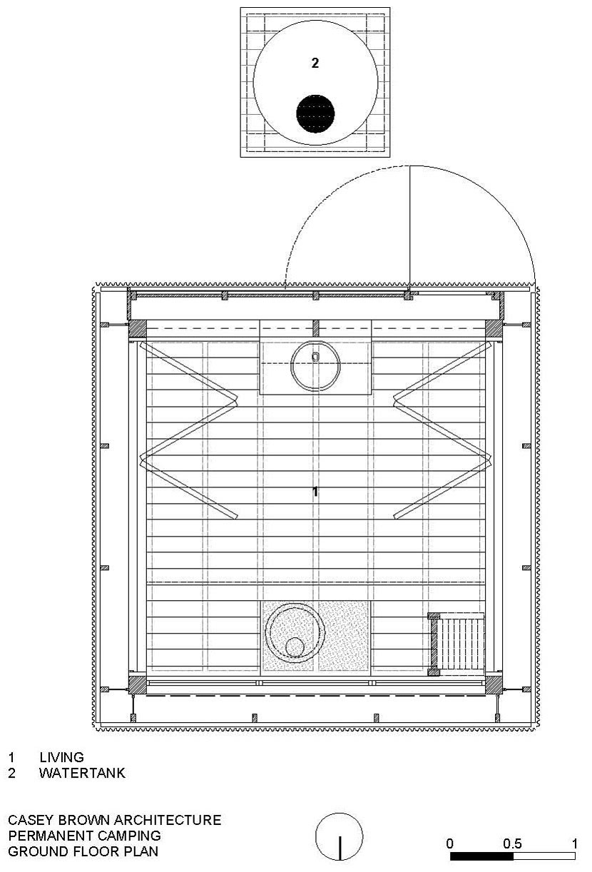 Ground Floor Plan, Mudgee Tower, New South Wales, Australia
