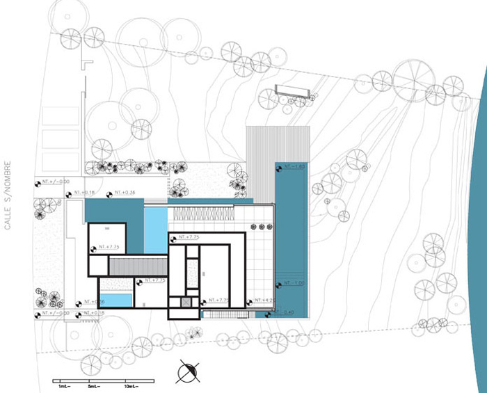 Site Plan, Modern Riverside House in Buenos Aires, Argentina