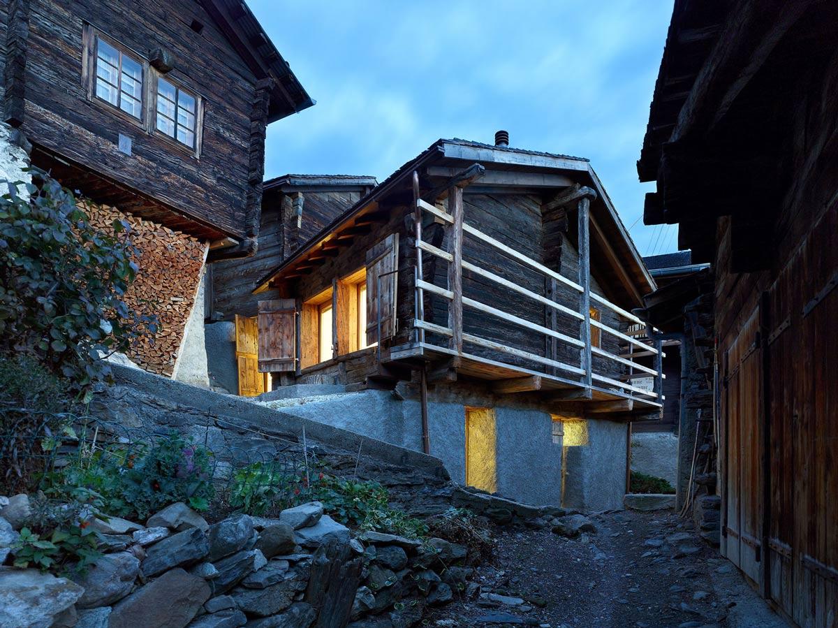 Dusk, Lighting, Maison Cambolin by Savioz Fabrizzi Architecte