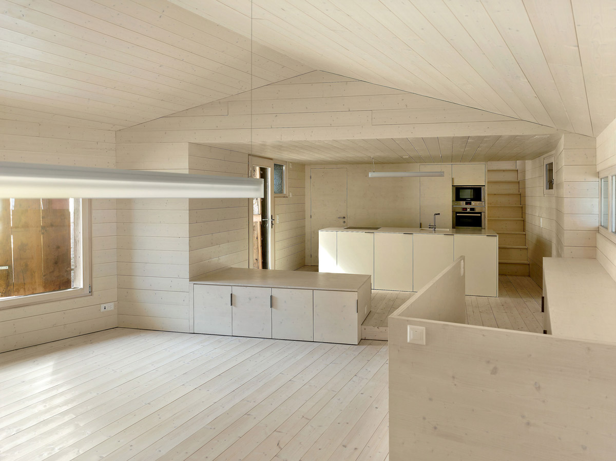 Kitchen, Lighting, Maison Cambolin by Savioz Fabrizzi Architecte