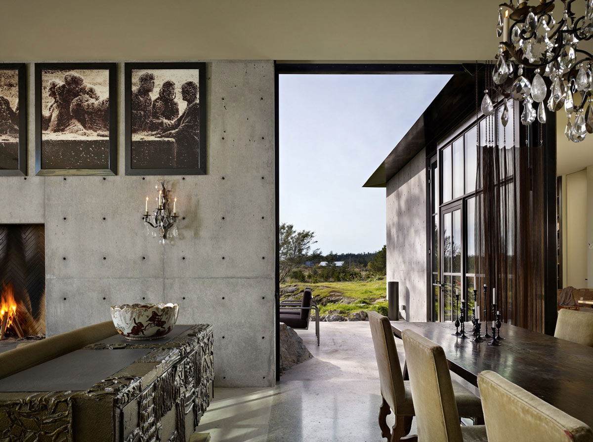 Dining Table, Large Doorway, The Pierre on San Juan Island by Olson Kundig Architects