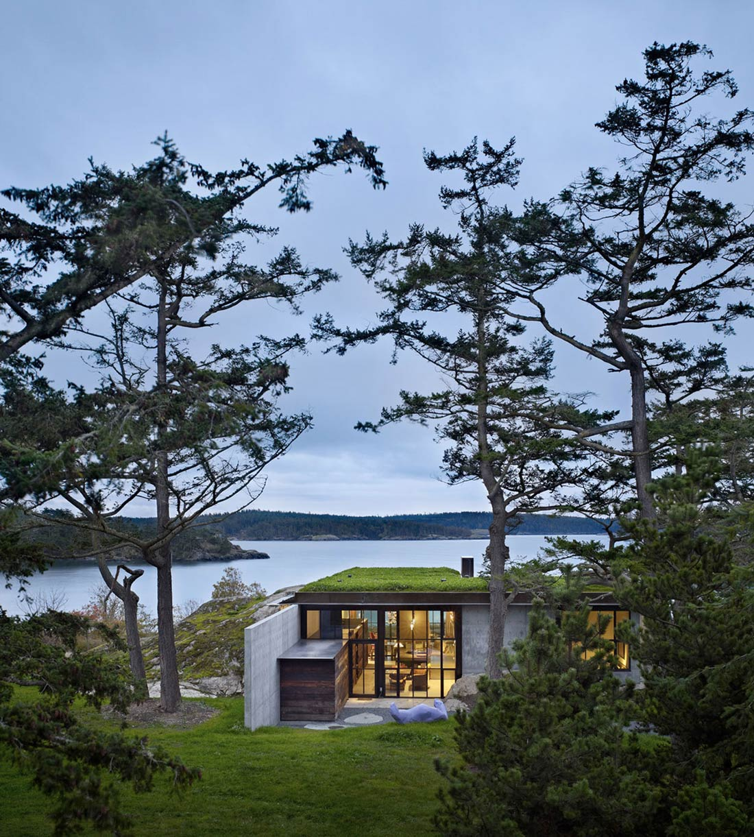Green Roof, Garden, Ocean Views, The Pierre on San Juan Island by Olson Kundig Architects