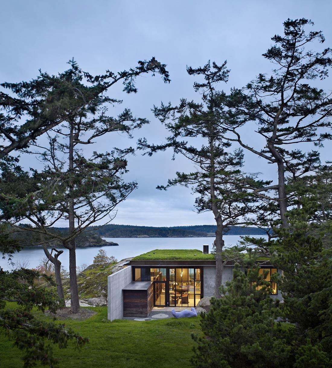 Green Roof, Garden, Ocean Views, The Pierre on San Juan Island by Olson Kundig Architects