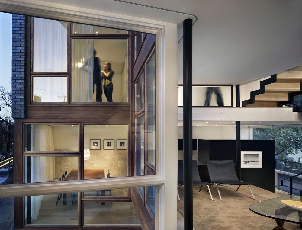 Window, Living Space, Split Level House in Philadelphia by Qb Design