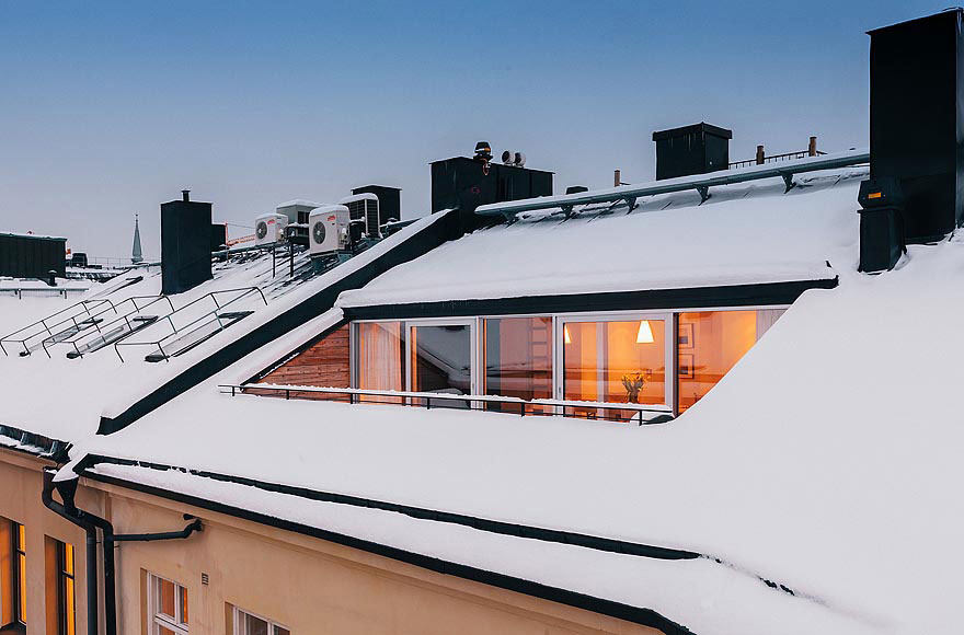 Balcony, Stylish Apartment in Stockholm, Sweden