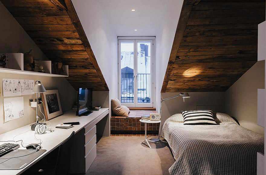 Bedroom, Stylish Apartment in Stockholm, Sweden