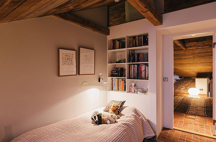 Bedroom, Stylish Apartment in Stockholm, Sweden