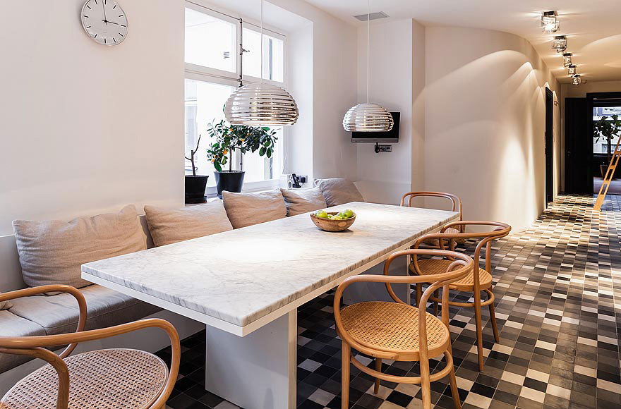Breakfast Table, Stylish Apartment in Stockholm, Sweden