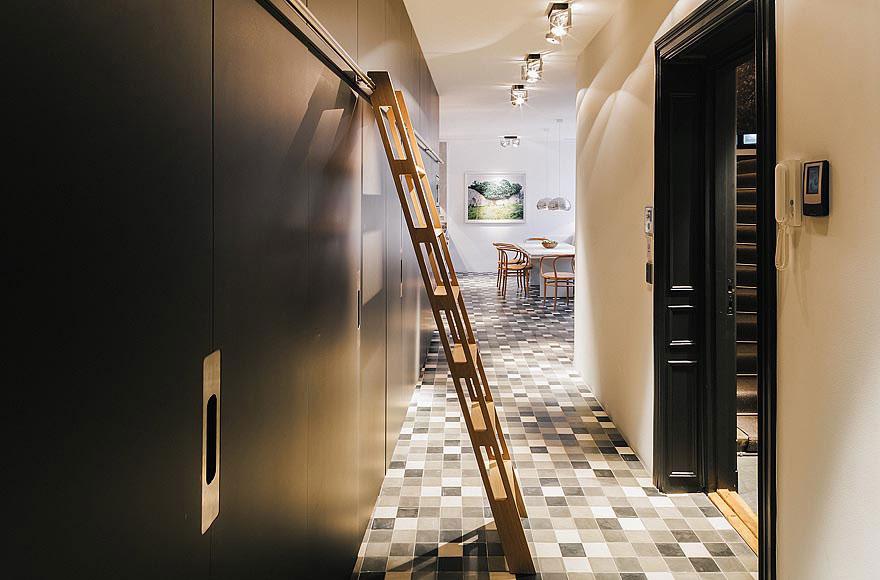 Entrance Hall, Stylish Apartment in Stockholm, Sweden
