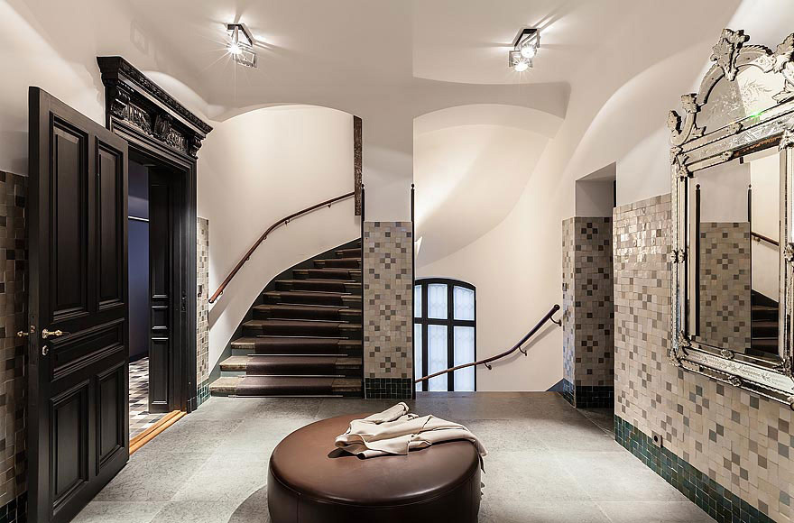Hallway, Stylish Apartment in Stockholm, Sweden