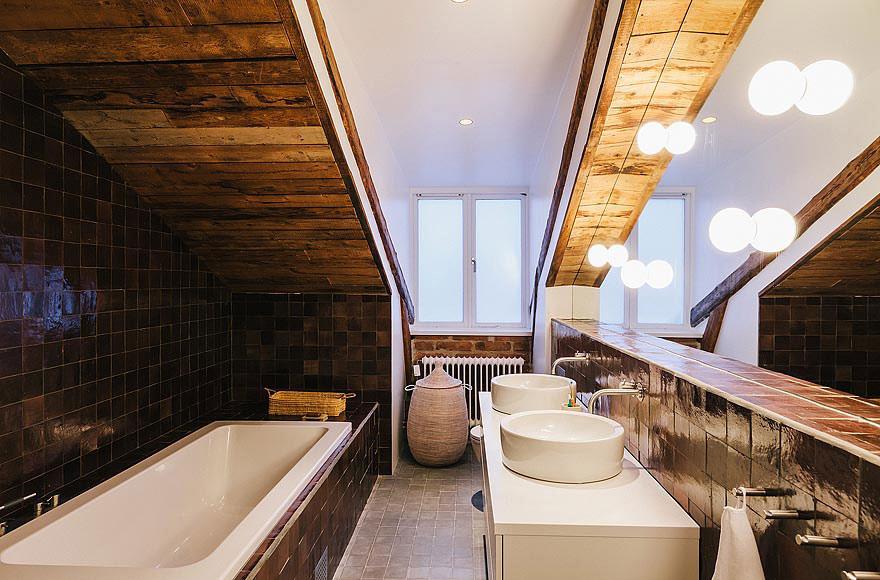 Sinks, Bath, Stylish Apartment in Stockholm, Sweden