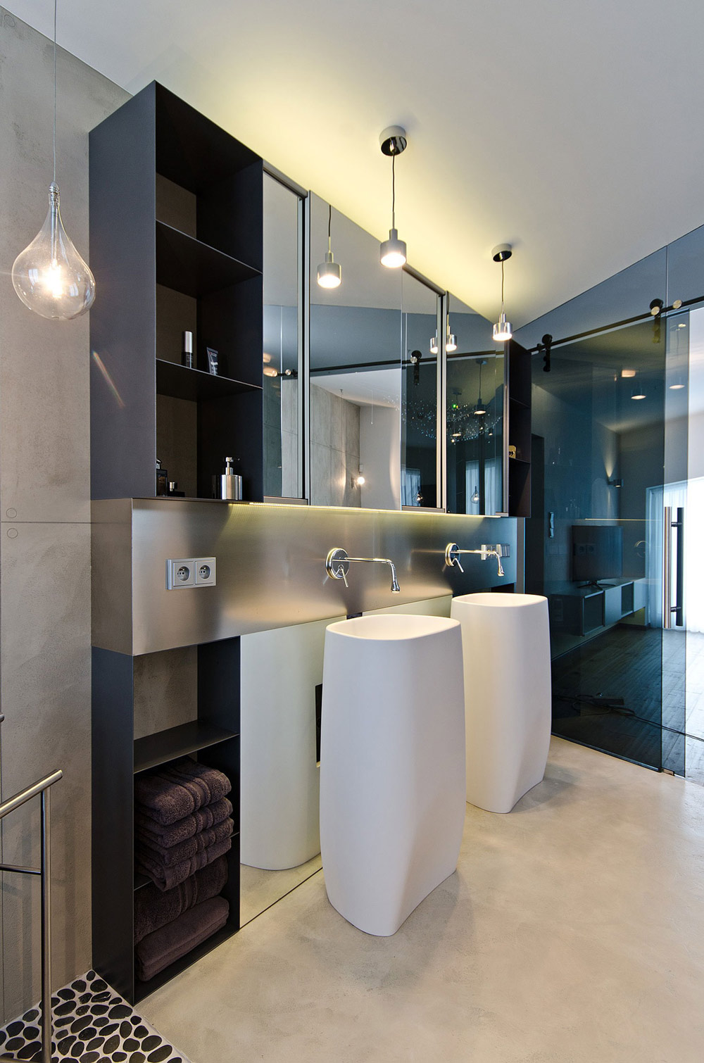 Bathroom Sinks, Concrete Interior Design in Osice, Czech Republic