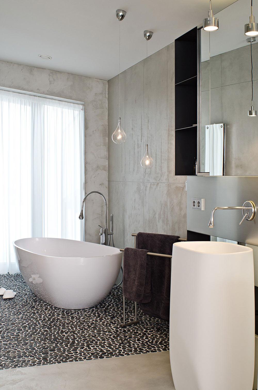 Bathroom, Concrete Interior Design in Osice, Czech Republic
