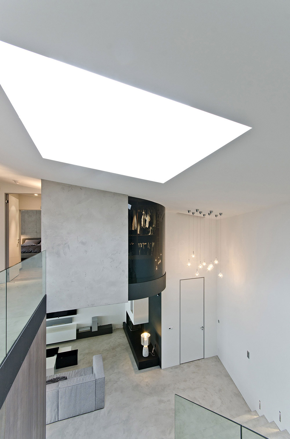 Lighting, Concrete Interior Design in Osice, Czech Republic