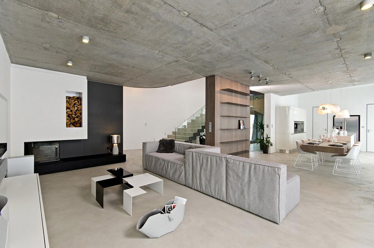 Concrete Interior in Osice, Czech Republic