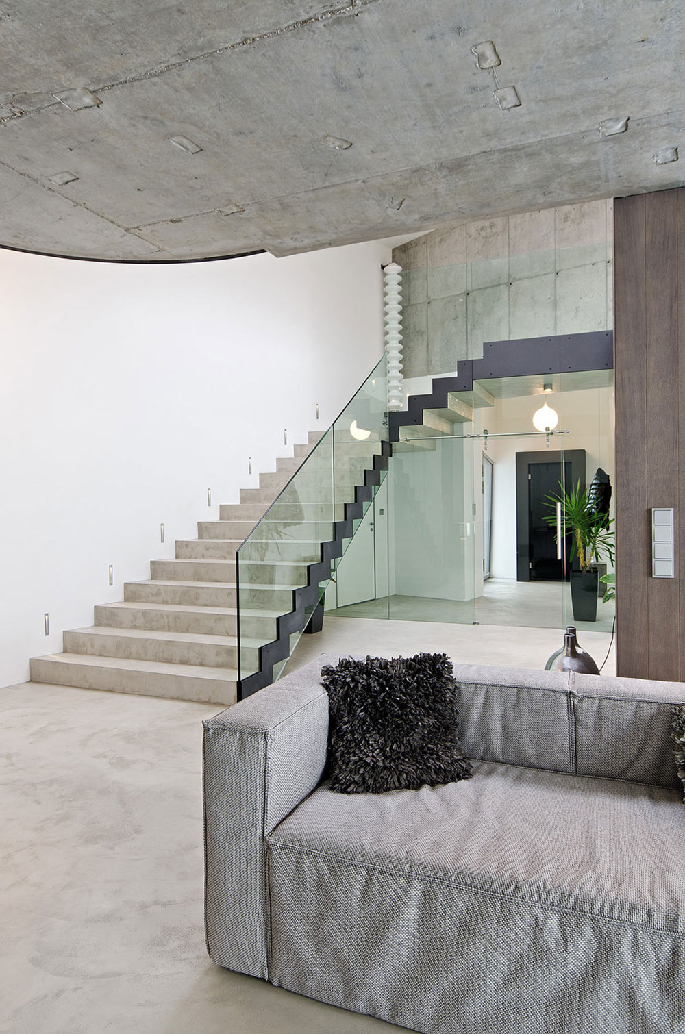 Stairs, Concrete Interior Design in Osice, Czech Republic