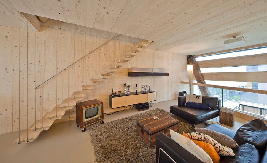 Rug, Sofa, Stairs, Eco-Friendly House in Amsterdam