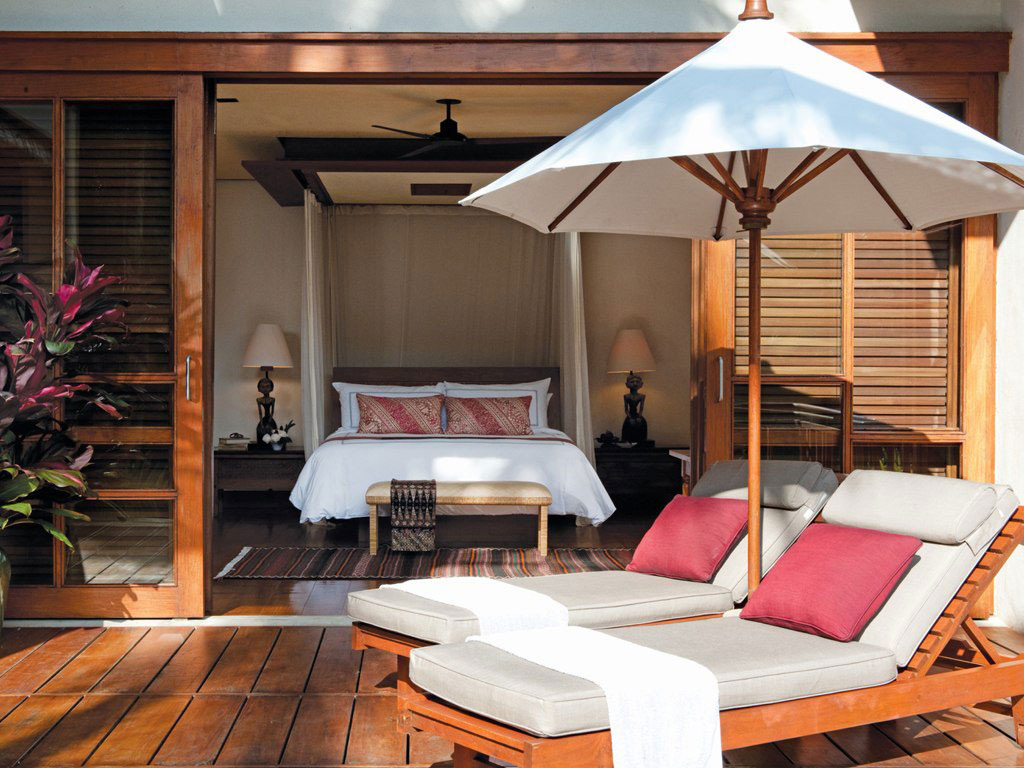 Bedroom, Wooden Deck, Four Seasons Resort Bali in Sayan, Bali